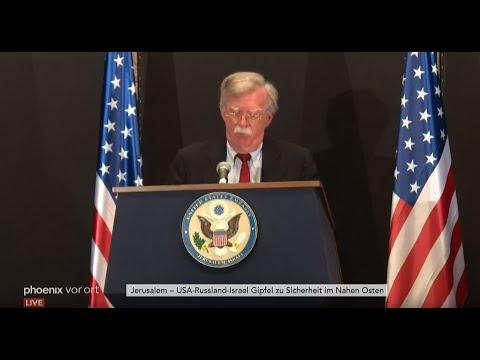 USA-Russland-Israel-Gipfel: Sicherheitsberater besprechen syrische Sicherheitslage