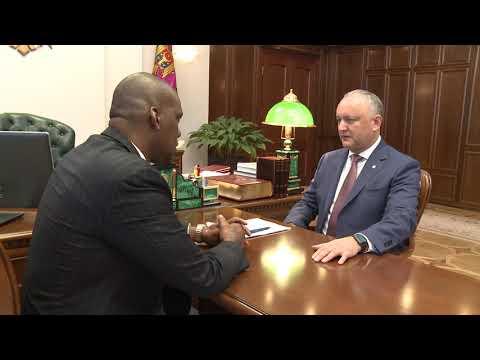 Președintele Republicii Moldova a avut o întrevedere cu Ambasadorul SUA