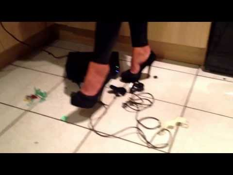 high heels crush - via YouTube Capture.