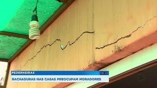 Pederneiras: vazamento pode ter causado rachaduras em casas e moradores estão preocupados