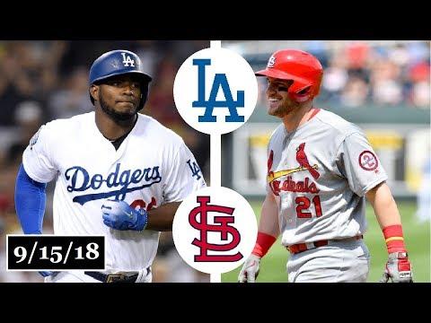 Los Angeles Dodgers vs St. Louis Cardinals Highlights || September 15, 2018