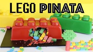 LEGO SMASH CAKE Piñata! No Bake Kids Cake | Elise Strachan | My Cupcake Addiction