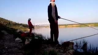 Как мы Быстро Ловили Рыбу на Речке Ингулец возле Села Павловка ( TimeLapse )
