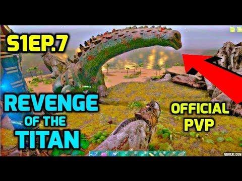 Revenge of the Titanosaur! + Free the Rock Golem - Official PVP Ark Survival S1Ep.7 A Underdog Story