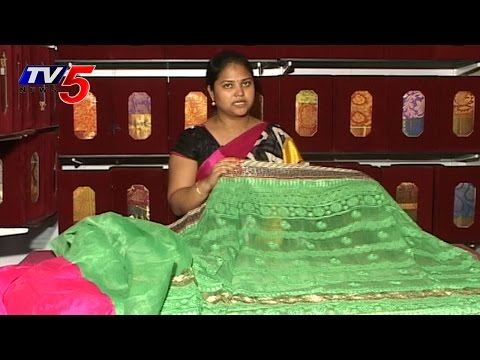 Pista Green Color Zoot Silk Saree : TV5 News
