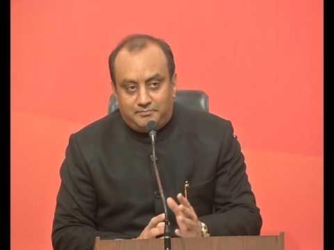 Press Conference by Dr. Sudhanshu Trivedi at BJP Central Office New Delhi : 12.02.2017