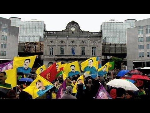 Κουρδική διαδήλωση κατά της τουρκικής κυβέρνησης στις Βρυξέλλες