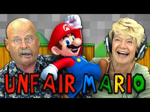 UNFAIR MARIO (Elders React: Gaming)