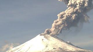 Espectacular explosión Volcán Popocatépetl 28 de diciembre 2014 9:39am