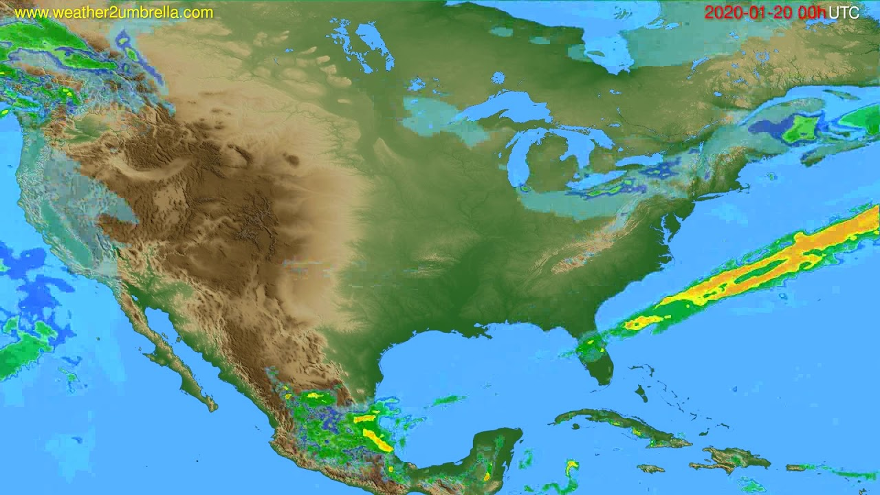 Radar forecast USA & Canada // modelrun: 12h UTC 2020-01-19