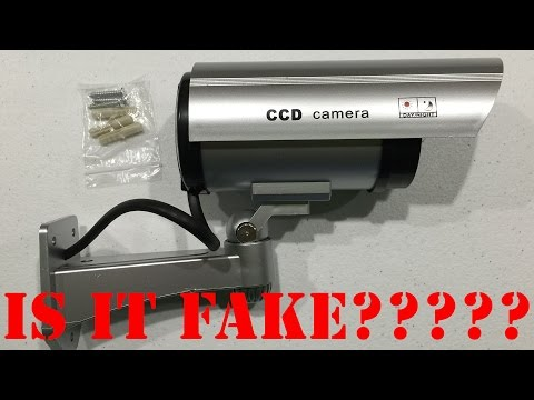Dummy Security Camera with Blinking Light Unboxing