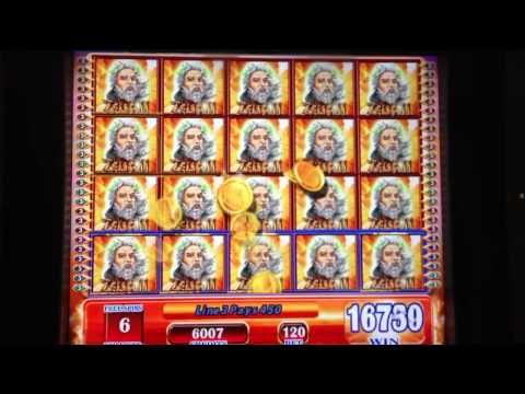 ZEUS II slot machine FULL SCREEN WIN