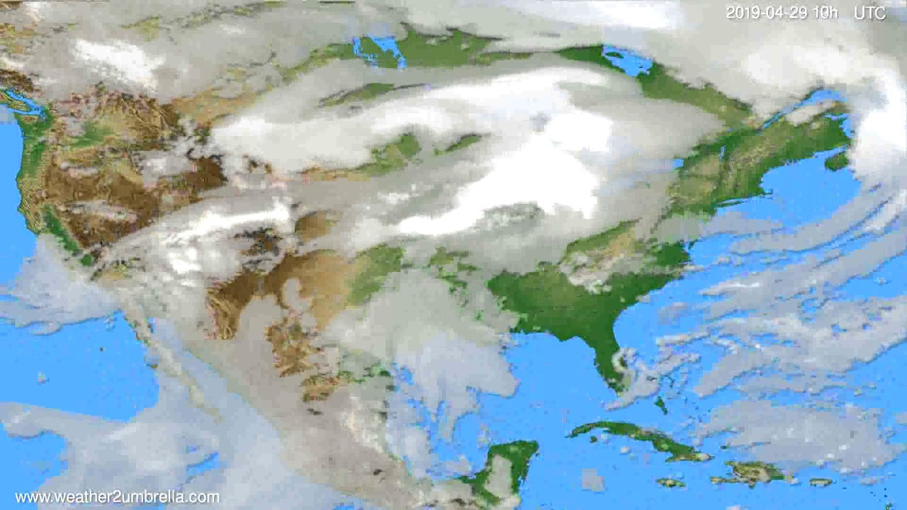 Cloud forecast USA & Canada // modelrun: 00h UTC 2019-04-27