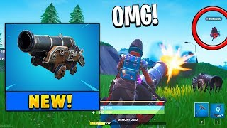 *NEW* Pirate Cannon Weapon Gameplay in Fortnite (Season 8)