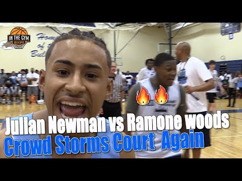 Julian Newman VS Ramone Woods Get HEATED ALL HE WANTS IS A NAME Crowd Storms Court Shuts IT Down