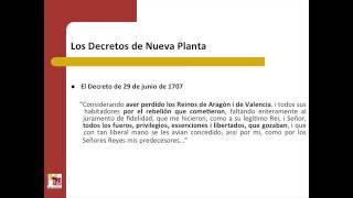 Umh1193sp 2013-14 Bloque 3.3.1 Decretos De Nueva Planta