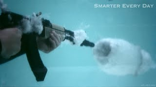 In which Destin uses an AK-47 to teach you the Physics of cavitation. Tweet this: http://bit.ly/AK47inPool Post to Facebook:...