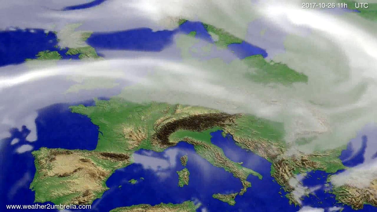 Cloud forecast Europe 2017-10-23