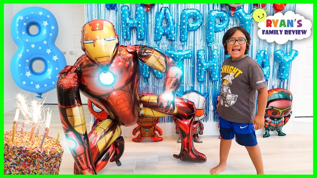 Ryan's 8th Happy Birthday Celebration Special!!!! - YouTube