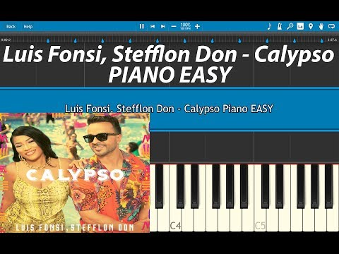 Luis Fonsi, Stefflon Don - Calypso Piano Tutorial Cover EASY With Keylabels