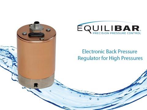 Electronic Back Pressure Regulator for High Pressures