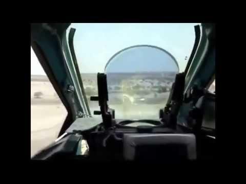 СУ-25 в Сирии. Проход на сверхмалой.