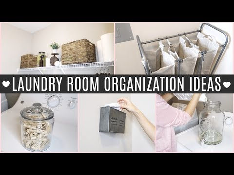 LAUNDRY ROOM ORGANIZATION IDEAS + TOUR | Home Organizing Tips