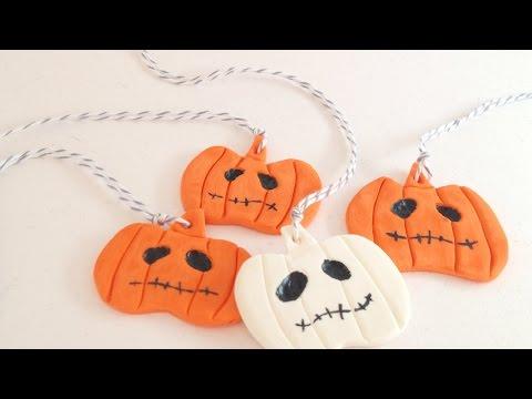fimo - come realizzare dei ciondoli a forma di zucca di halloween