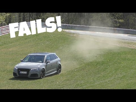 Audi RS3's LOVE to Understeer on the Nürburgring!
