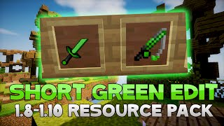 AciDic BliTzz GREEN SHORT SWORD Texture Pack (1.8/1.9/1.10 Resource Pack)