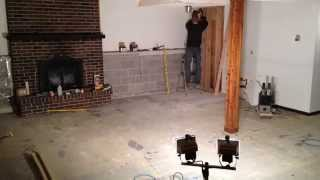 Disused basement living room to master suite conversion