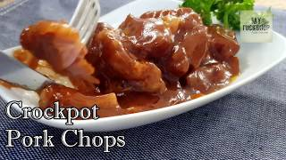Delicious Crockpot Pork Chop Serves 8 Total cook time 7hrs Seems long but let the crockpot cook, it so simple! Recipes: 5 tbsp...