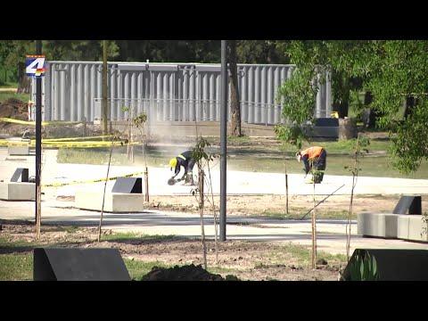 Avanzan obras de remodelación del Parque Municipal