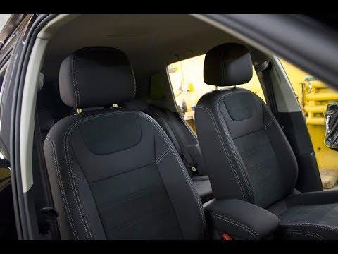 """Чехлы на Volkswagen Tiguan 2, серии """"Aurora"""" - серая строчка"""