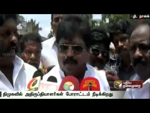 Duraimurugans-explanation-as-DMK-cadres-continue-to-protest-demanding-changes-in-candidate-list