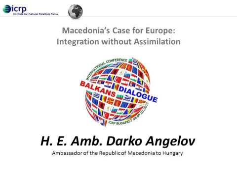 Lecture by HE Darko Angelov – Macedonia's Case for Europe
