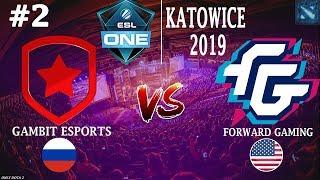 ФНГ против РЕЗОЛЯ! | Gambit vs FWD #2 (BO2) | ESL One Katowice 2019