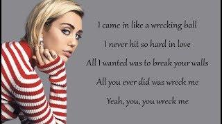 Video Miley Cyrus - WRECKING BALL (Lyrics) MP3, 3GP, MP4, WEBM, AVI, FLV Juni 2018