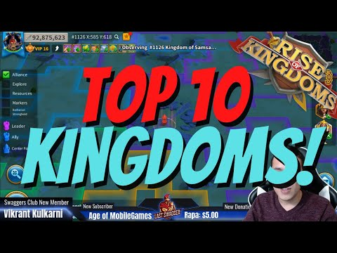 TOP 10 Most Powerful Kingdoms In Rise of Kingdoms! This Is MADNESS!