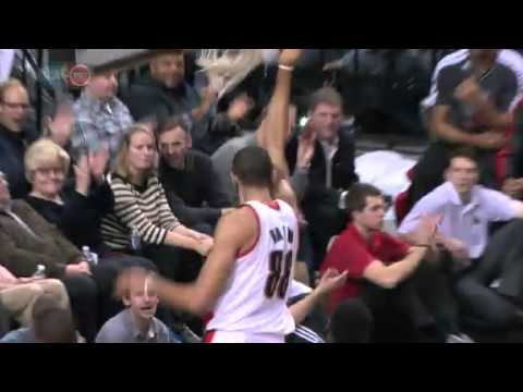 Nicolas Batum&#8217;s Putback Dunk against Heat