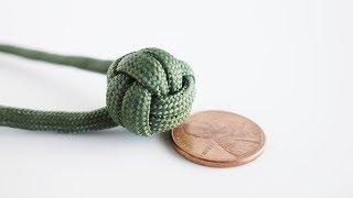 How to Make a Mini Monkey's Fist Tutorial | 2-Pass Monkey's Fist Key Chain