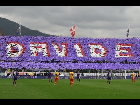 Fiorentina vs. Benevento match comes to a stop in the 13th minute as pays tribute to Davide Astori