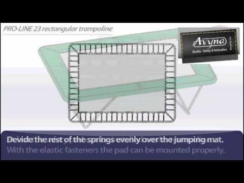 AVYNA PRO-LINE 23 Rechthoek 3m00 x 2m25 | Montage trampoline