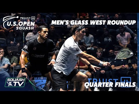 Squash: U.S. Open 2021 - Men's Glass West Roundup - Quarter Finals