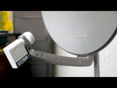 Satelliten-Anlage richtig montieren