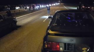 1036hp Audi 90 quattro with drag slicks vs. BMW 325ix AWD M50 turbo with street tires on medium boost. Next time ill use max boost and hopefully get the start a little better too!0-62mph / 0-100kmh in this run for me was 2,95 sek.Link to the Audi: http://www.garaget.org/Snofi