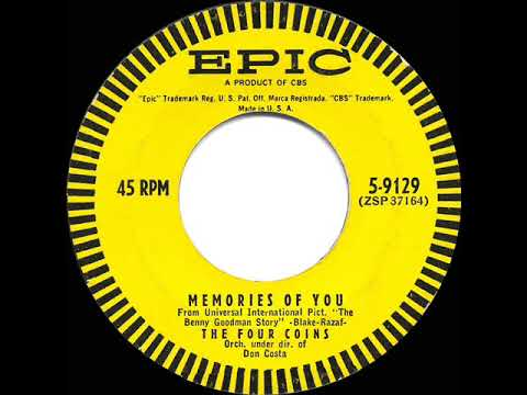 1956 HITS ARCHIVE: Memories Of You - Four Coins