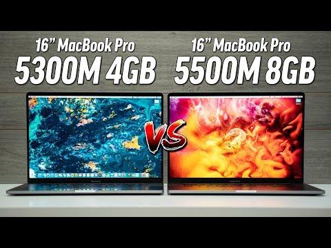 """5300M vs 5500M 8GB - 16"""" MacBook Pro Graphics Comparison"""