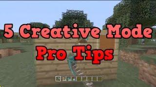 Minecraft Xbox 360 - 5 Creative Mode Pro Tips