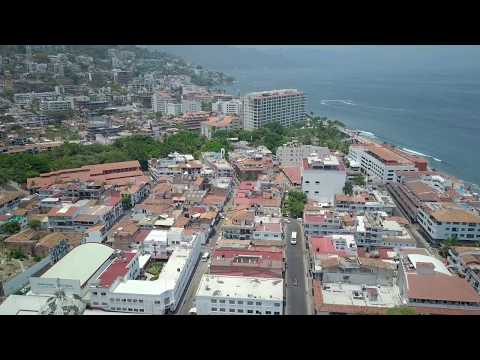 Flight over Puerto Vallarta, Mexico with DJI Mavic Pro Drone
